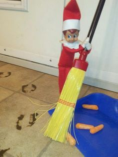 Elf on a Shelf cleaning