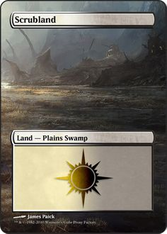 Magic The Gathering Scrubland Proxy