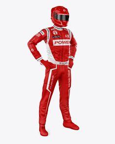 F1 Racing Kit Mockup – Half Side View
