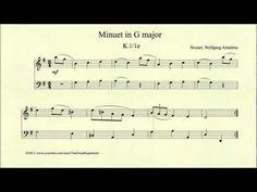 ▶ Mozart, Minuet in G major, K 1 1e - YouTube
