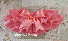 Coral Sassy Pants Ruffle Diaper Cover Bloomers by SherbetBaby, $32.00...it's so cute!!! I need to try to find a DIY pattern for them