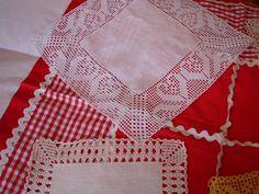 LAVORES DA ISABEL: Fevereiro 2007 Filet Crochet, Crochet Fabric, Crochet Patterns, Crochet Table Runner Pattern, Diy And Crafts, Quilts, Blanket, Elsa, Knitting
