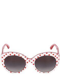 Pin for Later: Die coolsten Accessoires für euren Oktoberfest-Look  Dolce & Gabbana gerundete Katzenaugen-Sonnenbrille mit Punktmuster (140 €)