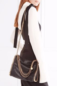 1628a0764d0e Stella McCartney - The Falabella mini faux brushed-leather shoulder bag