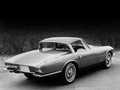 STRANGE CONCEPT CARS - 1963 CORVETTE RONDINE PININFARINA - SLANTED BACK REAR WINDOW