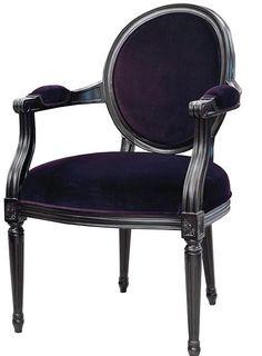 Scaun cu design elegant, tapitat cu catifea - Exotique.ro