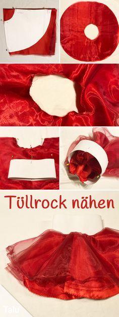 Kostenlose Anleitung - Tüllrock nähen - Talu.de