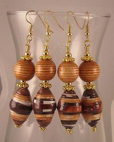 Earthy Dangle Earrings Multicolor Handmade by jewelrybypatsdesign