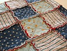Little Slugger Baseball Rag Quilt by LovemeRagged on Etsy