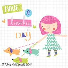 Have a lovevly day card @ Gina Maldonado 2014 Tigerprint character competition runner up