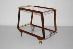 Extraordinary Austrian Serving Trolley, 1960 | From a unique collection of antique and modern bar carts at https://www.1stdibs.com/furniture/tables/bar-carts/