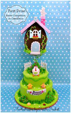 Fantasticakes by Cecile: La mia torta pasquale prima classificata nella concorso Easter Cakes sur CakesDecor