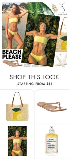 """XAVIER SWIM: Mimosa Set"" by gaby-mil ❤ liked on Polyvore featuring INC International Concepts, Tkees, Maison Margiela, bikini, swim, shop, mimosa and Xavier"