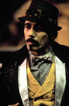 """Actor  Edward James Olmos in the role of Gaff in the 1982 movie """"Blade Runner""""  - Costume Design by Michael Kaplan"""