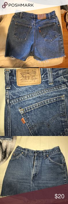 High waisted Levi jean shorts Levi jean shorts high wastes Shorts Jean Shorts