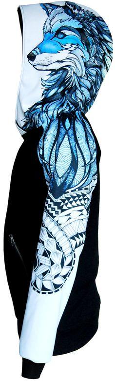 WHITE WOLF HOODIE bluza damska STREET LEGEND Clothing Brand
