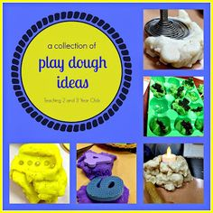 Our collection of play dough activities and tools for 2013. www.teaching2and3yearolds.com #playdough