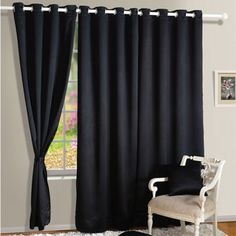 Coal-Black Blackout Curtains-1002