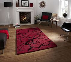 Elements Hand Tufted 100% Wool Rug Splash Effect Stylish Centre Piece 90cm x 150cm (Red) Think Rugs http://www.amazon.co.uk/dp/B00L948ZDU/ref=cm_sw_r_pi_dp_3Clzvb0YK39E1
