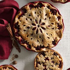 Supremely festive, this deep-dish cranberry pie deserves a spot on your Thanksgiving table.