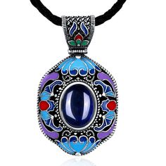Find More Pendant Necklaces Information about 008A Fashion Jewelry National Championship Long Cloisonne Antique Silver Jade Ethnic Gem Statement Pendants Necklaces For Women,High Quality necklace key,China necklace arabic Suppliers, Cheap necklace topaz from CaCa store on Aliexpress.com