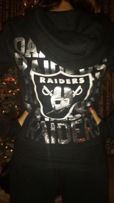 Victoria Secret PINK Oakland Raiders Hoodie M Sweat Pant S BLING SEQUIN OUTFIT
