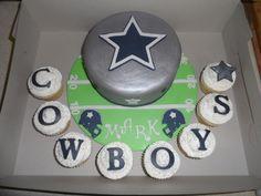 Dallas Cowboys Cake and Cupcakes  Facebook.com/beccascakesandbakes