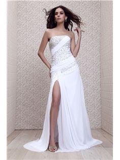 魅力的なAラインスTalineのイブニングドレス トラップレス床長さ