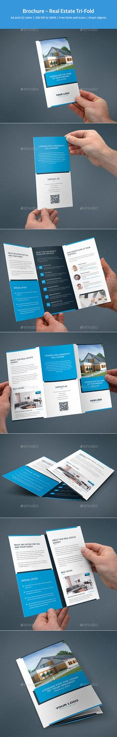 #Brochure – Real Estate Tri-Fold - Corporate Brochures Download here: https://graphicriver.net/item/brochure-real-estate-trifold/19737774?ref=alena994
