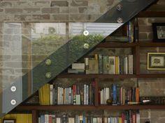 glass staircase design for barn