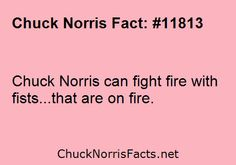 Chuck Norris can fight fire with fists…that are on... | ChuckNorrisFacts.net