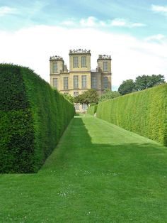 Hardwick Hall through the hedged garden, Derbyshire, England (All Original Photography by vwcampervan-aldridge.tumblr.com)