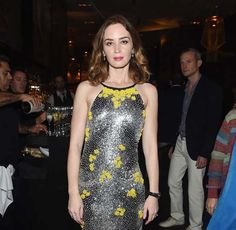"Actress Emily Blunt attends IWC Schaffhausen celebrates ""Timeless Portofino"" Gala Event during Art Basel Miami Beach to mark the Launch of the new Portofino Midsize Watch Collection at The W Hotel South Beach on December 2014 in Miami, Florida. Emily Blunt, Celebrity Red Carpet, Celebrity Look, Celeb Style, Only Fashion, Fashion Tips, Women's Fashion, Nice Dresses, Formal Dresses"