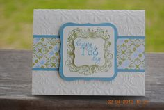 Handcrafted Happy I Do Day Wedding Card