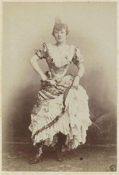 """Louise Weber, """"La Goulue"""".. The Queen of Montmartre, star of the Moulin Rouge, muse of Toulouse Lautrec"""