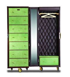 Movable wardrobe trunk by Trunks Company Jaipur