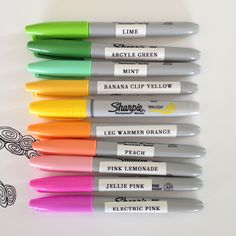 sharpie color chart - Google Search