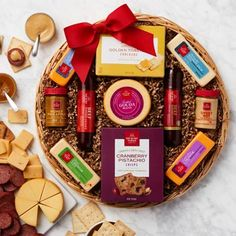 Hickory Farms Gift Baskets - Hickory Farms Holiday Gift Basket Holiday Gift Baskets, Gourmet Gift Baskets, Holiday Treats, Holiday Gifts, Hickory Farms, Cheese Gifts, Farm Holidays, Meat And Cheese, Thanksgiving Gifts