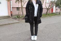 Blouse - H&M  Trousers - Pull&Bear Shoes - Lacoste Coat - Funk'n'Soul Bag - H&M