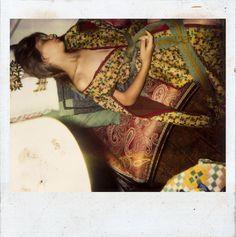 BALTHUS  Untitled, c. 1999–2000  Color Polaroid  4 x 4 inches (10.2 x 10.2 cm)  © Harumi Klossowska de Rola