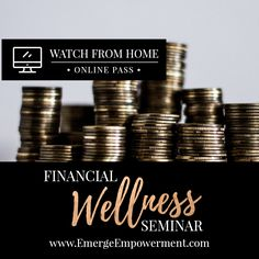 "Financial education is important for everyone. Whether you're single, married, divorced; young or older, being educated about finances helps ease worry and concern, not just for your future, but for today as well. There are no ""secrets"" to financial security and financial security isn't just for the wealthy. Watch it here: http://emergeempowerment.com/shop/financial-wellness-webinar/. You matter. Be empowered."