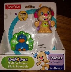 Fisher Price Laugh & Learn Talk ''n'' Teach Sis & Peacock #NotApplicable