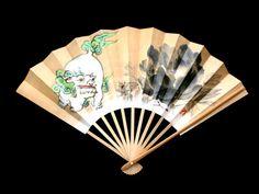 Japanese Dance Fan Mai Ogi  Hand Fan Paper Fan by VintageFromJapan, $12.00