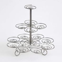 High-quality metal cupcake stand stree with 3 tiers to hold 13 wedding cupcakes $15.00 Cake Supplies, Baking Supplies, Christmas Cupcakes, Wedding Cupcakes, Bakeware, Diy Gifts, Hold On, Metal, Cookware