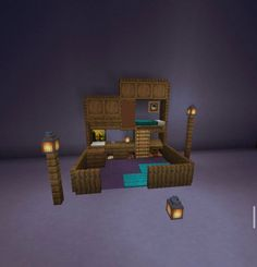 I saw a post a while ago about a bed design. i dont remember who posted it but i upgraded it. :) : Minecraft I saw a post a while ago about a bed design. i dont remember who posted it but i upgraded it. Minecraft Hack, Minecraft Cool, Minecraft Building Guide, Cute Minecraft Houses, Minecraft House Designs, Minecraft Tutorial, Minecraft Blueprints, Minecraft Crafts, Minecraft Ideas