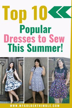 Check out this amazing list to start sewing your favorite summer dresses sewing patterns. Choose from this list that includes a lot of free sewing patterns for women and the most popular and loved patterns online. Sewing Summer Dresses, Popular Dresses, Summer Patterns, Sewing Patterns Free, Simple Dresses, Tops, Women, Simple Gowns, Woman