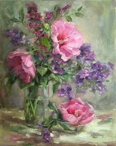 """Pink Hibiscus"" - Original Fine Art for Sale - © Barbara Schilling"