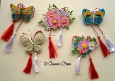 Quilling Flowers Tutorial, Quilling Butterfly, Butterflies, Tassel Necklace, Tassels, Paper, Beautiful, Jewelry, Dragonflies