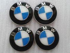 """2.5"""" / 65mm BMW Blue Emblem Wheel Center Hub Cap Sticker set of 4 E46 E39 E38..."""