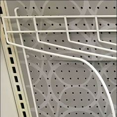 A gap in the merchandise allowed me to better document construction of this specialized Diagonal Divider Mount Details Revealed implementation for Pegboard Shelf Dividers, Divider Design, Retail Merchandising, Mirrors, Hooks, Home Appliances, Detail, Frame, House Appliances